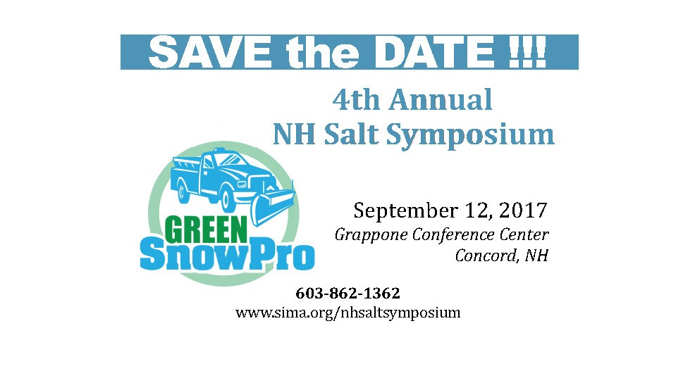 Save the Date for the 4th Annual NH Salt Symposium, September 12th in Concord, NH